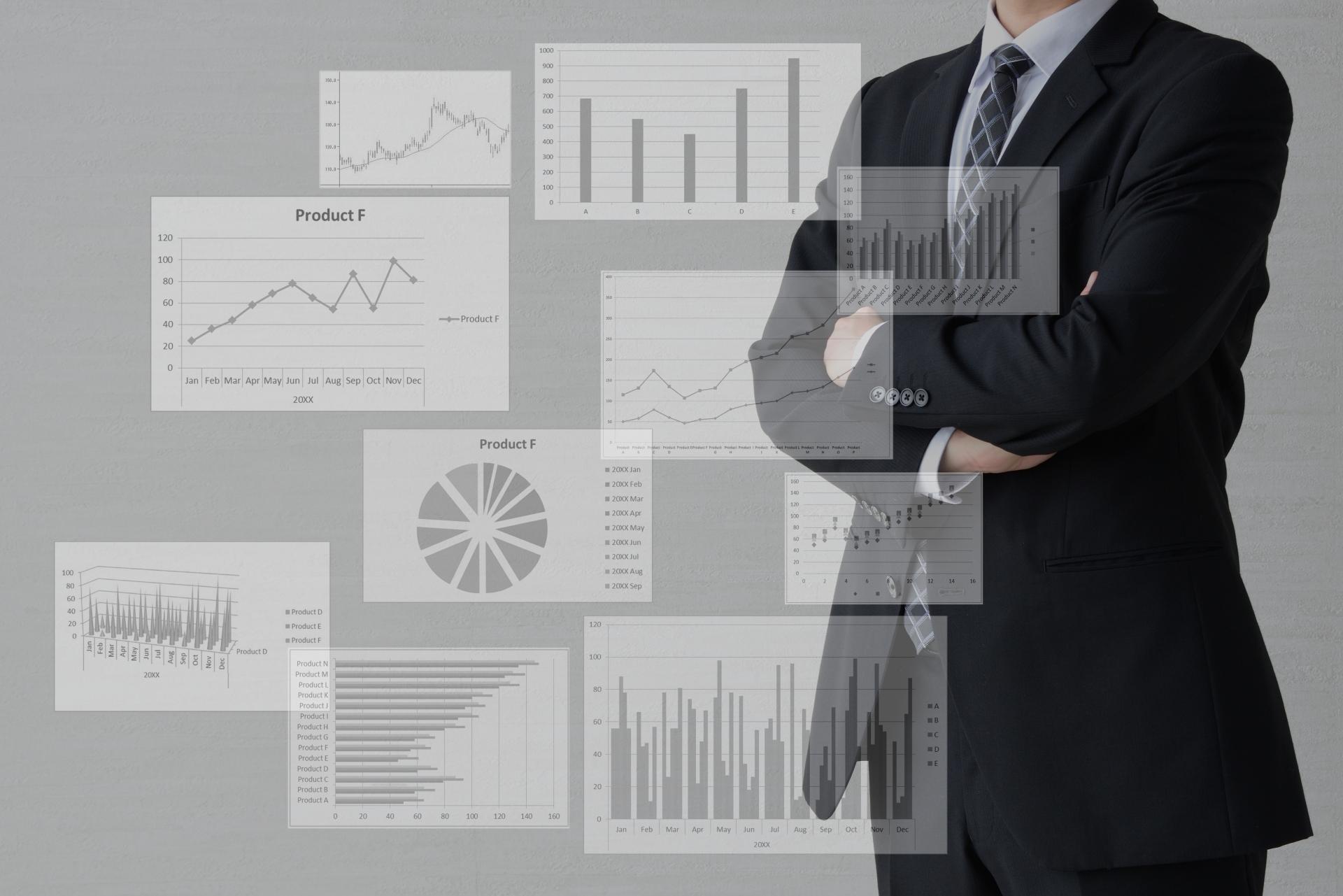 営業マンとグラフ